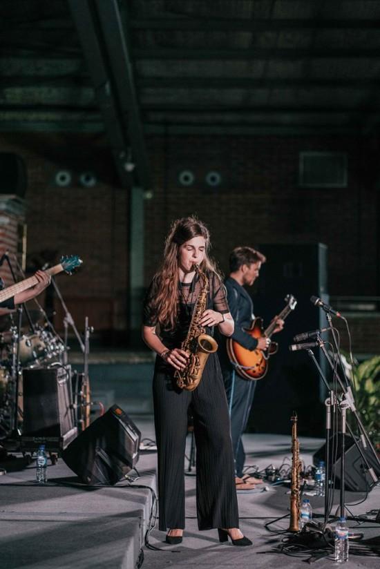 Kika Sprangers bersama grup Quintet-nya, humas UKWMS.