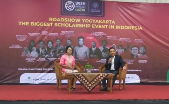 Direktur Pemberitaan Medcom.id, Abdul Kohar saat menjadi narasumber Talkshow di WISH Festival 2019 di Yogyakarta.  Foto:  Medcom.id/Patricia Vicka