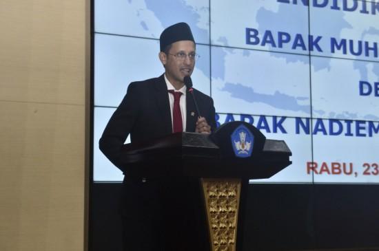Mendikbud, Nadiem Makarim. Foto:  Kemendikbud/BKLM