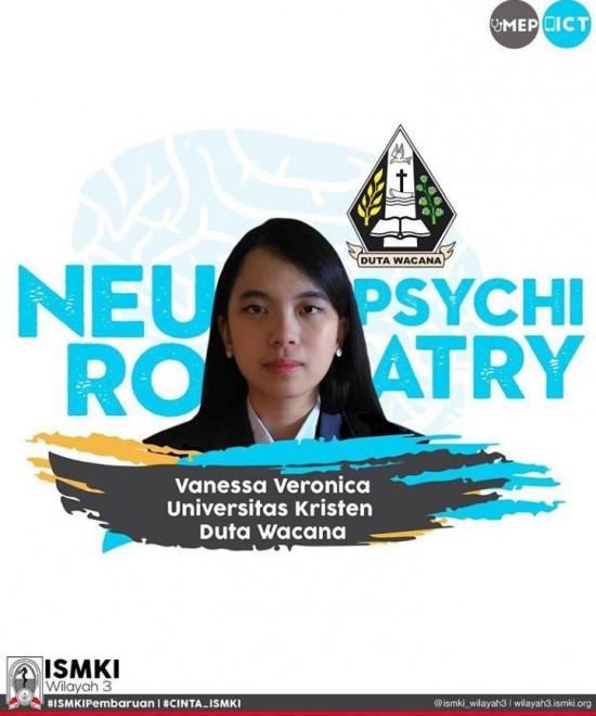 Vanessa Veronica, mahasiswi Fakultas Kedokteran Universitas Kristen Duta Wacana (FK UKDW) Yogyakarta, berhasil menjadi Juara 1 dalam ajang MEPandemic Competition 2020. Dok UKDW.