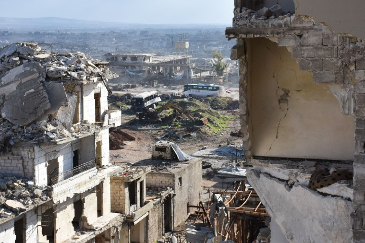 Bus Pembawa Pengungsi Aleppo Dibakar Militan