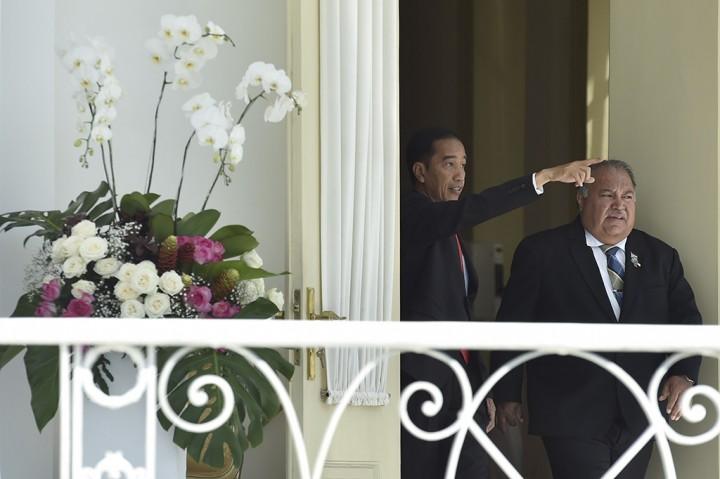 Jokowi Bertemu Presiden Nauru Bahas Perubahan Iklim