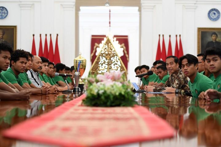 Jokowi Optimistis Timnas U-16 Jadi Tim Kebanggaan