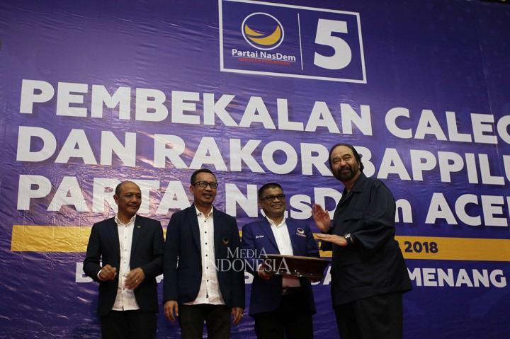 Surya Paloh Buka Pembekalan Caleg NasDem di Aceh