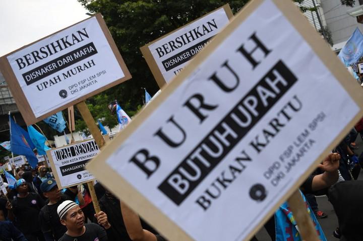 Buruh Tuntut Revisi UMP DKI 2019