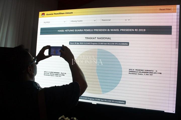 KPU Resmikan Ruang Pusat Informasi Rekapitulasi Suara