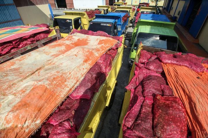 70 Ton Bawang Merah Selundupan Dimusnahkan