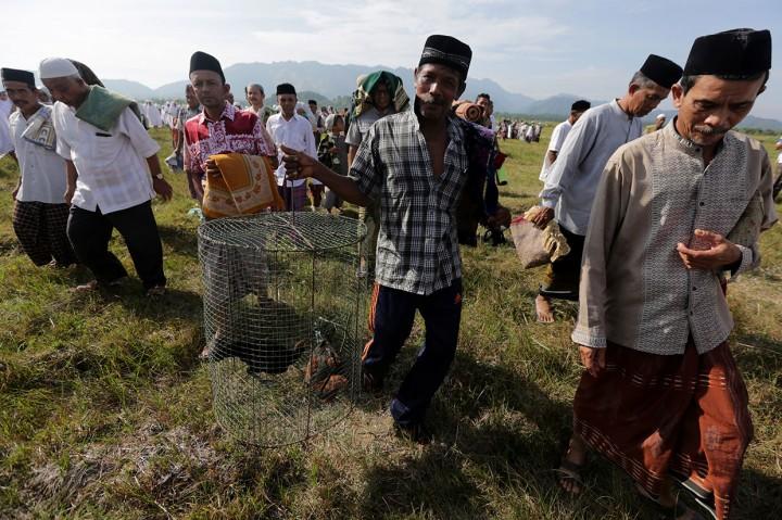 Warga Aceh Besar Laksanakan Salat Minta Hujan