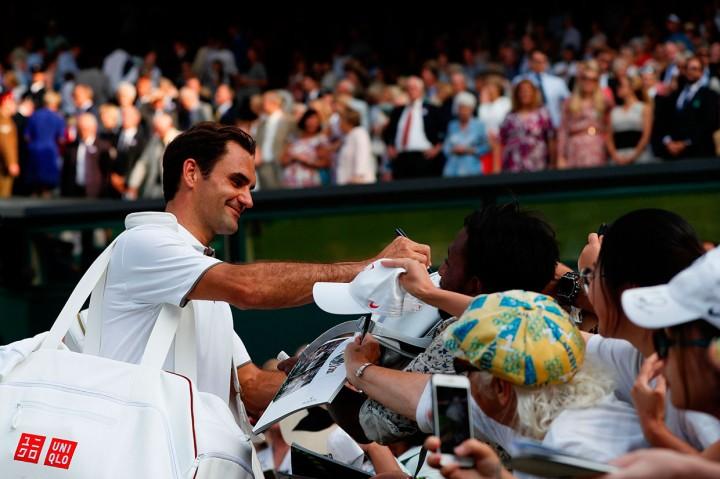 Federer Cetak Kemenangan ke-100 Wimbledon