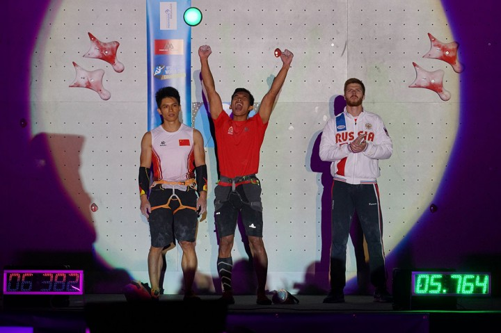 Alfian Fajri Juara Dunia Panjat Tebing di Prancis