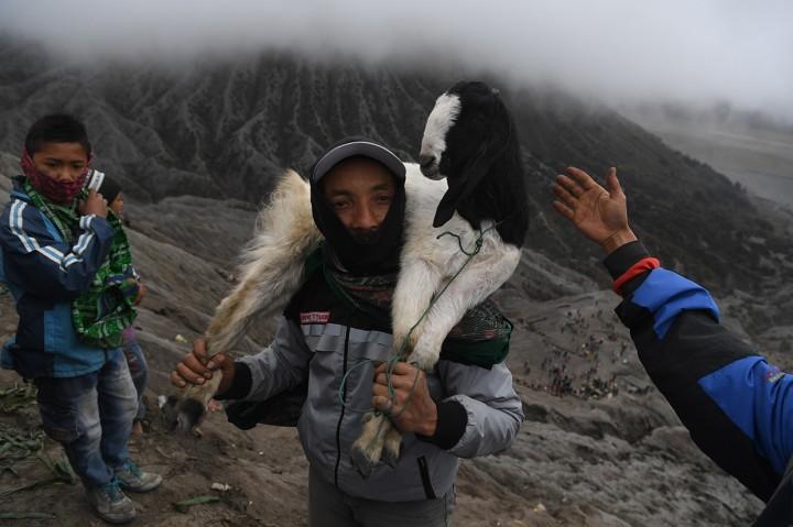 Suku Tengger Gelar Upacara Yadnya Kasada di Bromo
