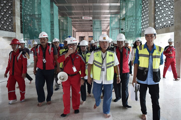 Menteri Basuki Tinjau Renovasi Masjid Istiqlal