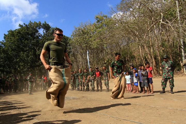 Marinir Indonesia-Amerika Semarakkan HUT RI