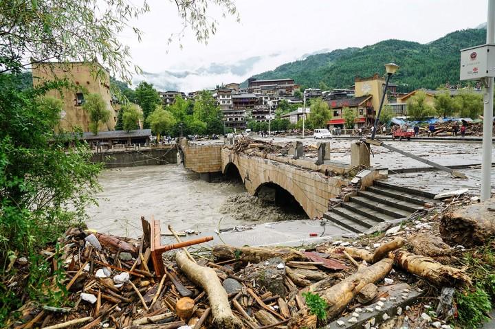 9 Tewas akibat Banjir Bandang dan Longsor di Tiongkok