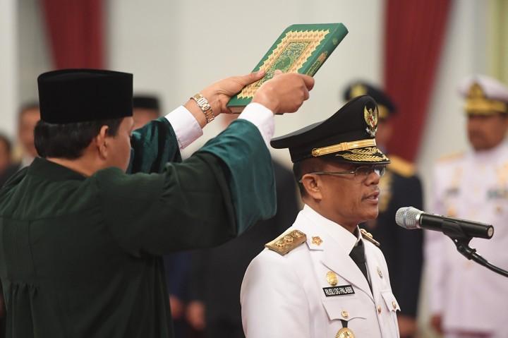 Jokowi Lantik Wagub Sulteng Setelah 3 Tahun Kosong