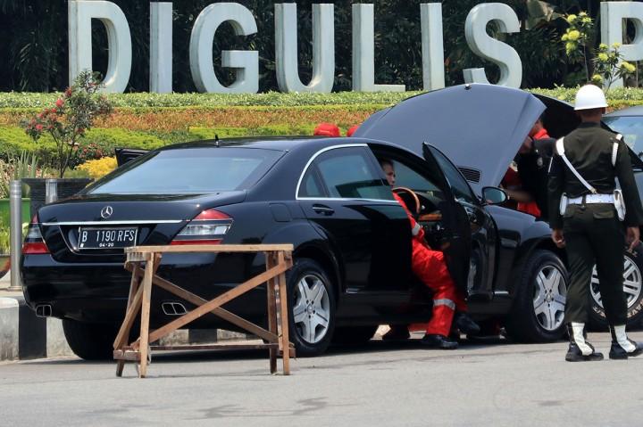 Mobil Presiden Mogok di Pontianak