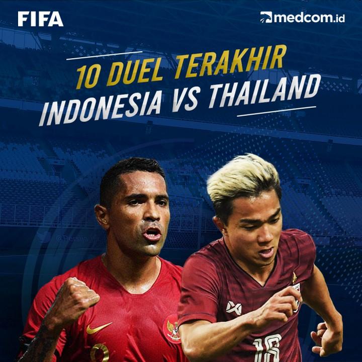 10 Duel Terakhir Indonesia vs Thailand