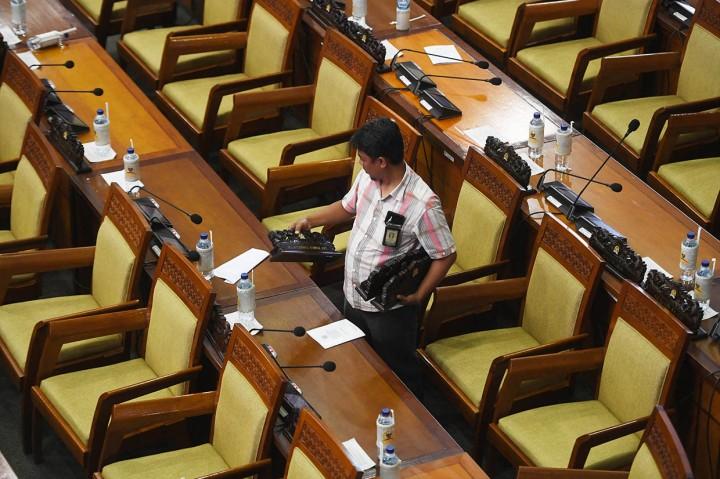 Suasana Rapat Paripurna Terakhir DPR Periode 2014-2019