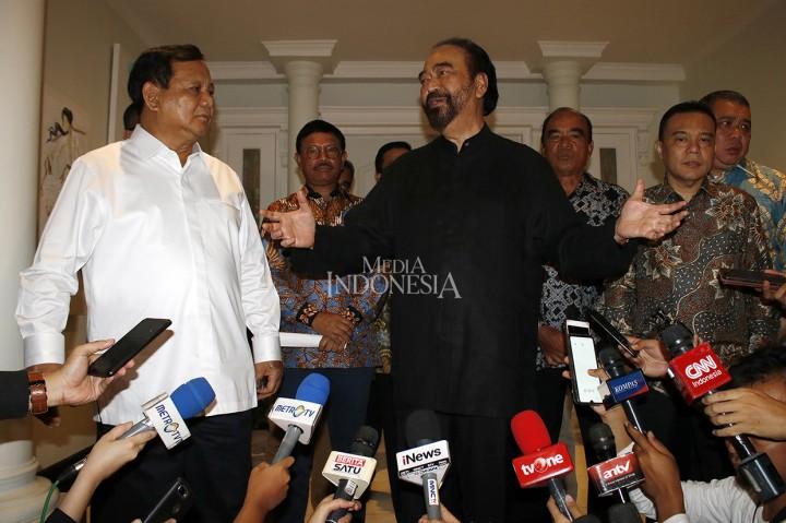 Momen Pertemuan Surya Paloh dan Prabowo