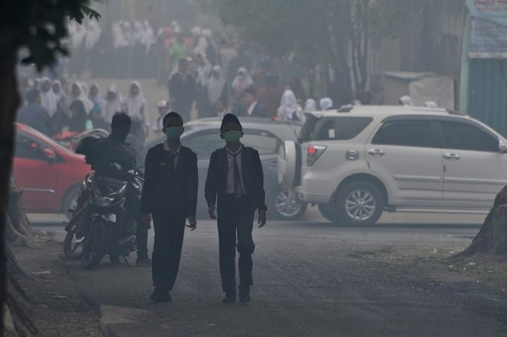 Kabut Asap Selimuti Banjarmasin dan Palembang