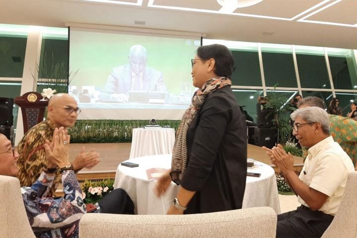 Ekspresi Menlu saat RI Terpilih Sebagai Anggota Dewan HAM PBB