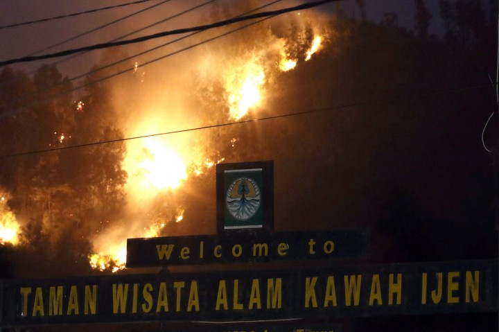 Kebakaran Landa Tiga Gunung di Banyuwangi