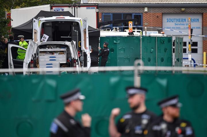 Image result for Kepolisian Inggris temukan 39 jasad WN China