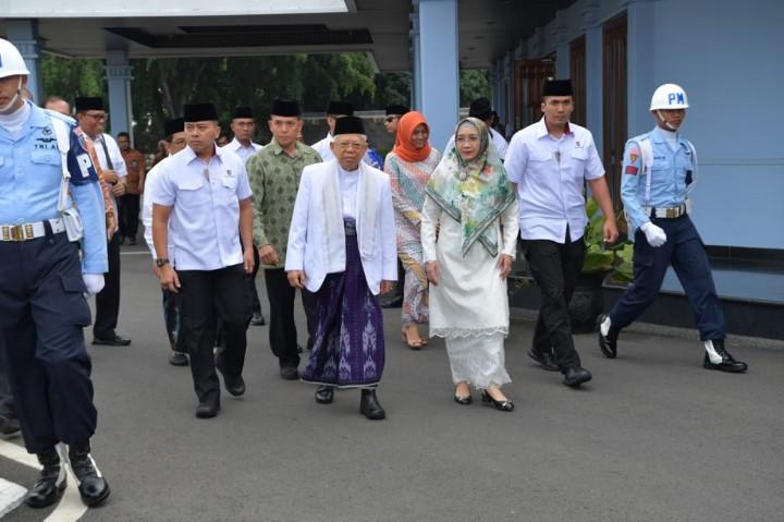 Ma'ruf Amin Bertolak ke Surabaya Resmikan Pagelaran Budaya