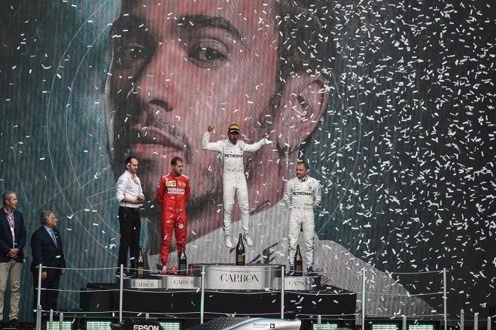 Menangi F1 GP Meksiko, Hamilton Selangkah Menuju Juara Dunia