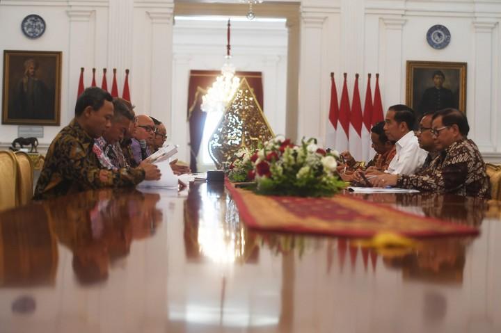 KPU Lapor Evaluasi Pemilu ke Jokowi