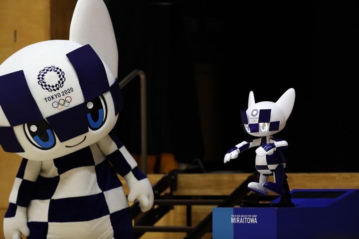 Maskot Olimpiade 2020 Hibur Anak-anak di Tokyo