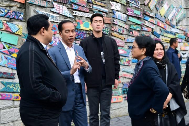 Kunjungi Desa Budaya Gamcheon Korsel, Jokowi: Bisa Jadi Inspirasi