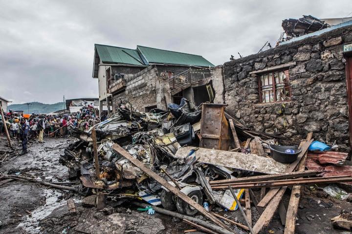Begini Kondisi Pesawat yang Jatuh dan Meledak di Kongo