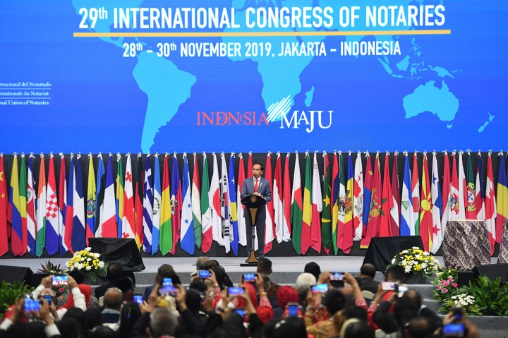 Jokowi Buka Kongres Notaris Dunia ke-29