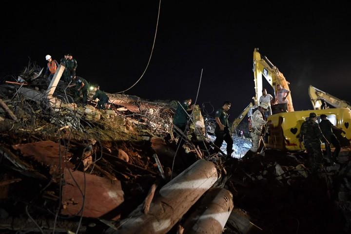 Empat Tewas akibat Bangunan Tujuh Lantai di Kamboja Ambruk