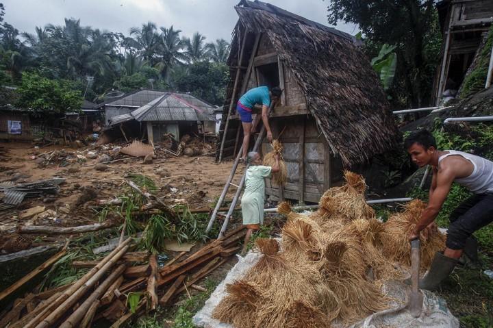 Kondisi Desa Adat Urug Pascaditerjang Banjir Bandang dan Longsor