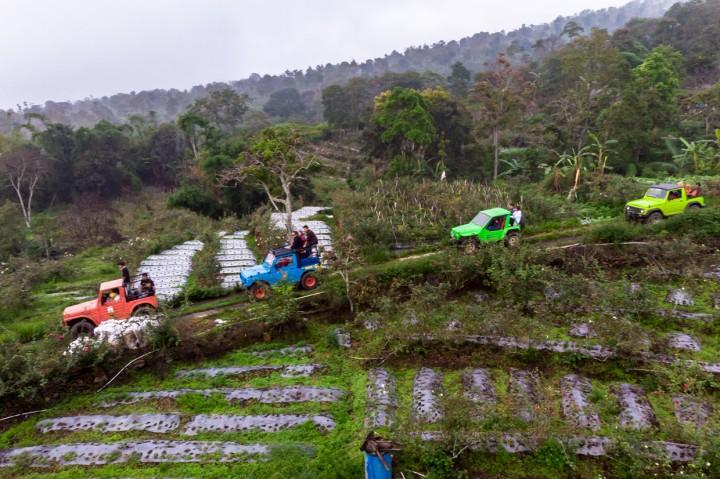 Serunya Wisata Offroad Lereng Gunung Ungaran