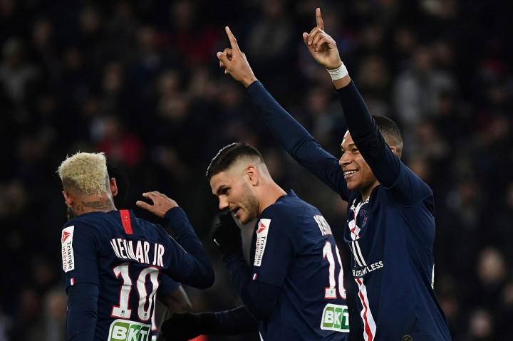 PSG Pesta Enam Gol ke Gawang Saint Etienne