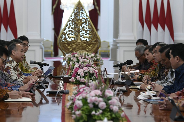 Terima SoftBank dan IDFC, Jokowi Tawarkan Investasi di Indonesia