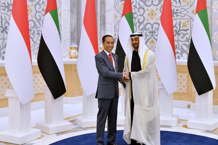 Momen Jokowi Disambut Upacara Kenegaraan di Abu Dhabi