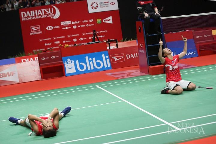 Menang Dramatis, Greysia/Apriyani Juara Indonesia Masters