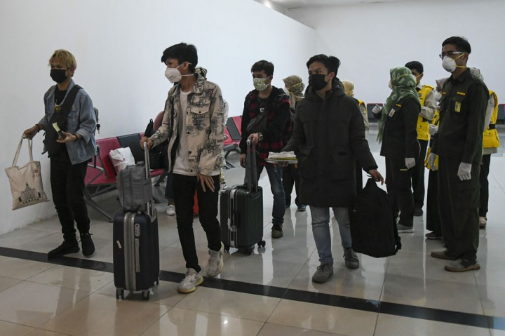 Tujuh Mahasiswa asal Sumsel Tiba dari Tiongkok