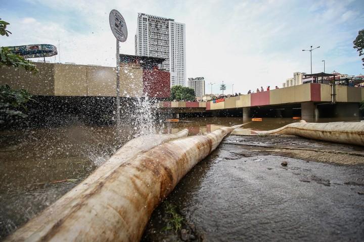 Banjir Kembali Rendam Underpass Kemayoran