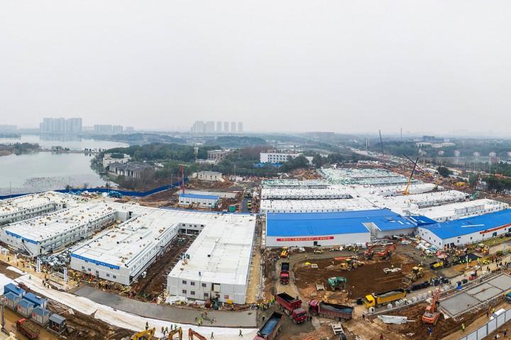 Dibangun dalam 10 Hari, Ini Penampakan RS Korona di Wuhan