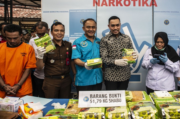 BNN Musnahkan 51 Kg Sabu
