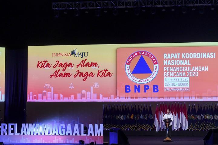 Hadiri Rakornas BNPB, Jokowi Sampaikan 5 Solusi Penanggulangan