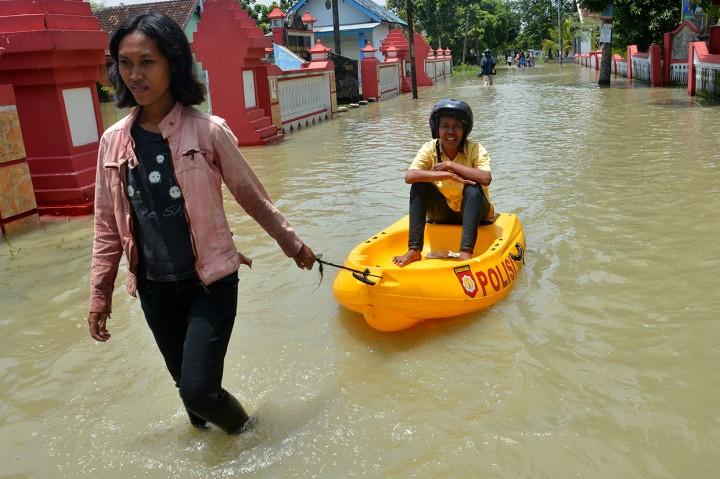 Ratusan Rumah di Mojokerto Tergenang Banjir