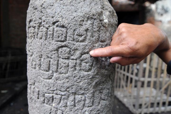 Lingga dari Abad 9 di Pekarangan Rumah Warga Klaten