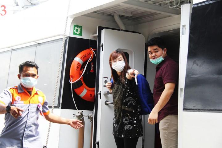 Turis asal Taiwan dan Tiongkok Tiba di Pelabuhan Dumai