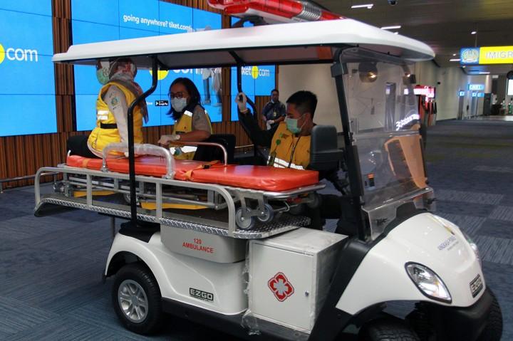 Antisipasi Virus Korona, Bandara Soetta Siagakan Ambulans Golf